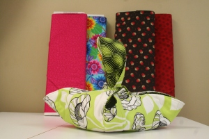 This kit contains two fabrics expertly paired together and the pattern and backing to make the holder.